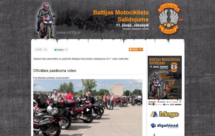 Baltijas Motociklistu Salidojums 2011