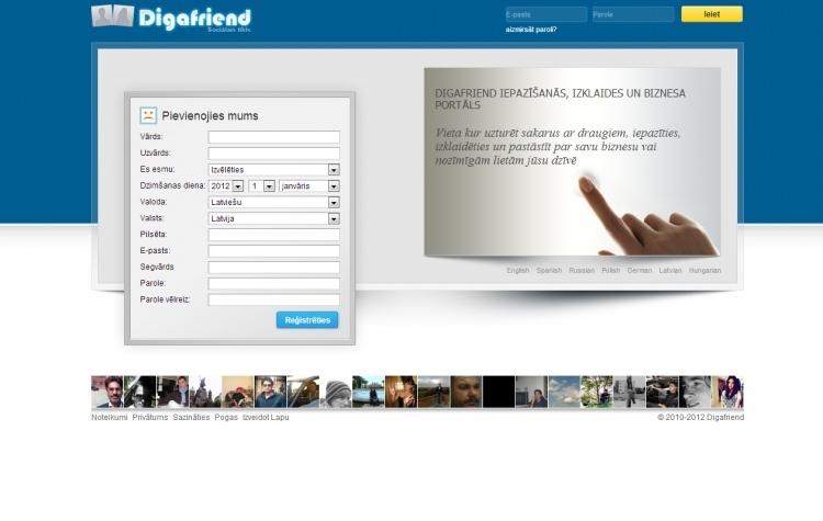 Sociālais tīkls Digafriend