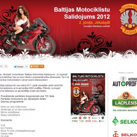 Baltijas Motociklistu Salidojums 2012