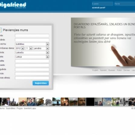 Social network Digafriend